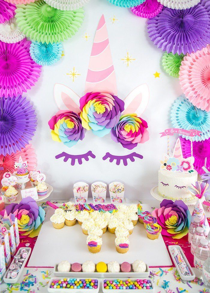 Vibrant Unicorn Birthday Party Unicorn Birthday Party Decorations Unicorn Birthday Parties Unicorn Themed Birthday Party