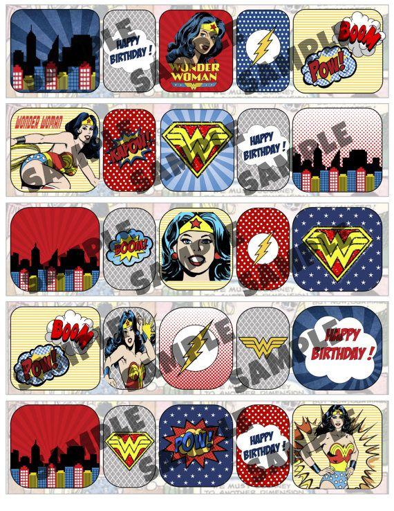 superhero water bottle labels