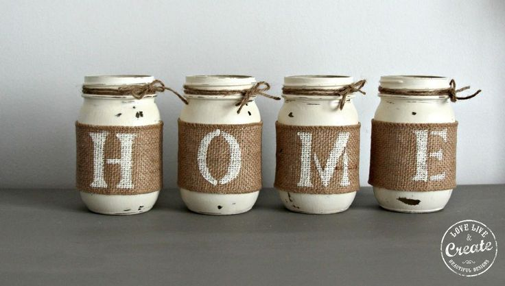 Customized Mason Jars- DIY home decor!