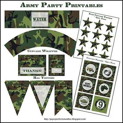 Paper Perfection: Army Party Printables