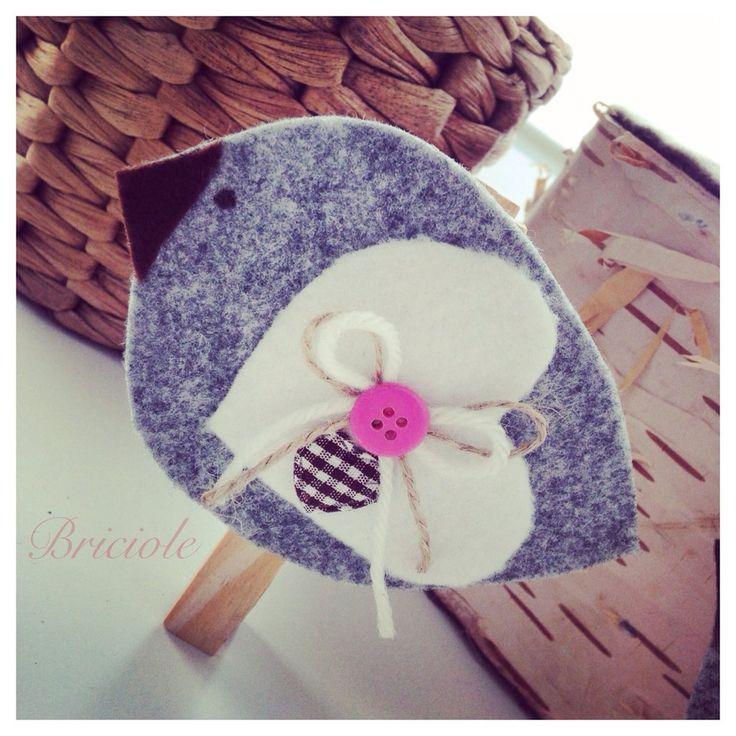Mollette decorate passerotti, by Briciole, 1,70 € su misshobby.com