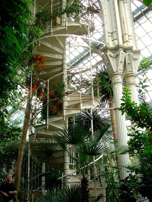 The Palm House in the palace park at Schönbrunn is the largest of its kind on the European continent. It houses dozens of Mediterranean, tropical and subtropical plants.  The Palm House is divided into three pavilions and three climate zones, which are connected to each other by tunnel-like corridors.
