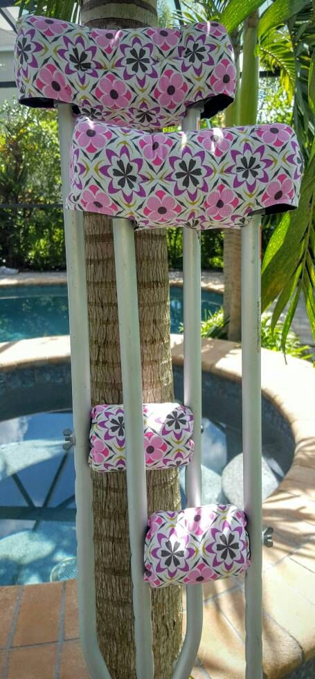 Pretty Patch Crutch Cover by FractureFashionz on Etsy