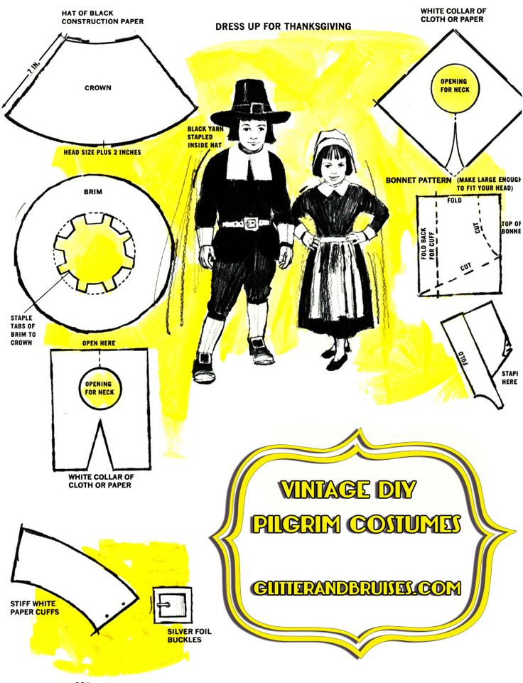Best 25 pilgrim costume ideas on pinterest pilgrims hat vintage thanksgiving instructions on how to make your own pilgrim costumes 1984 or earlier solutioingenieria Image collections