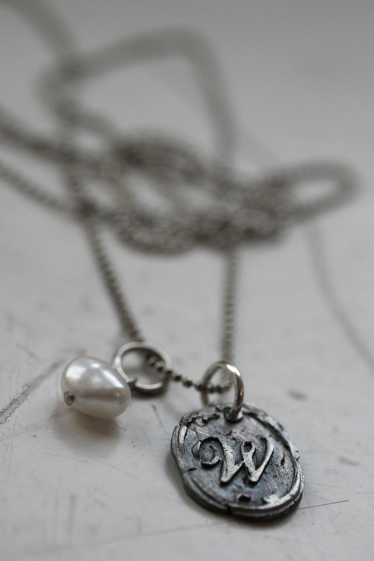 Handmade letter pendant #lumoan #nostalgia #silver #vintage #jewelry #tekstikoru #jewelry for men