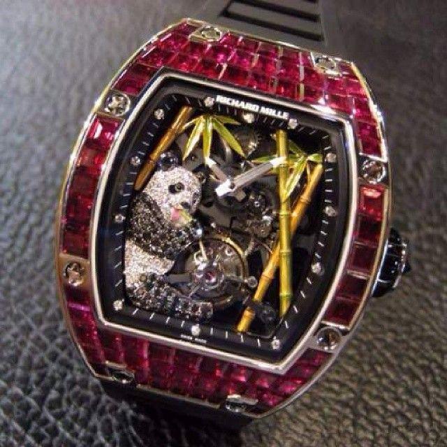 Richard Mille - Unique Panda with Red Jewels set case .Retail $1.85 milion .