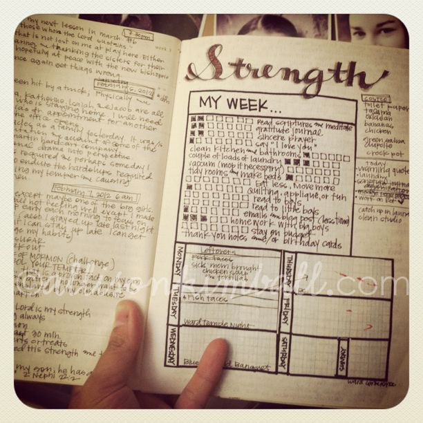 love this calendar with weekly to do list on it.