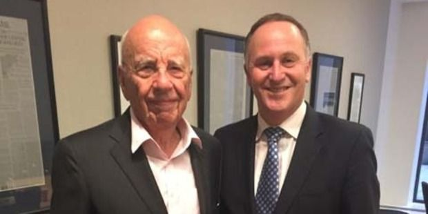 So much vile. | Prime Minister John Key met Newscorp owner Rupert Murdoch at a meeting with the Wall St Journal in New York. Photo / Supplied