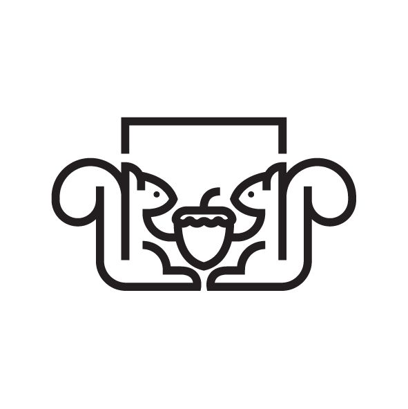 Square Squirrels logo                          @graphicdesignblg @gfx.mob @logothorns @logoinspirations