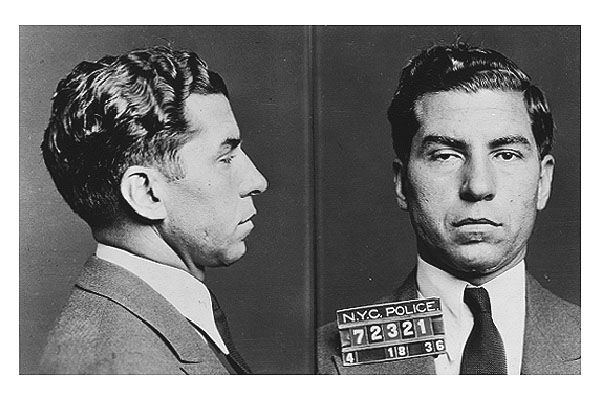 "Charles ""Lucky"" Luciano (born Salvatore Lucania; November 24, 1897 – January 26, 1962) was a Sicilian mobster. Description from magnoliamafia.net. I searched for this on bing.com/images"