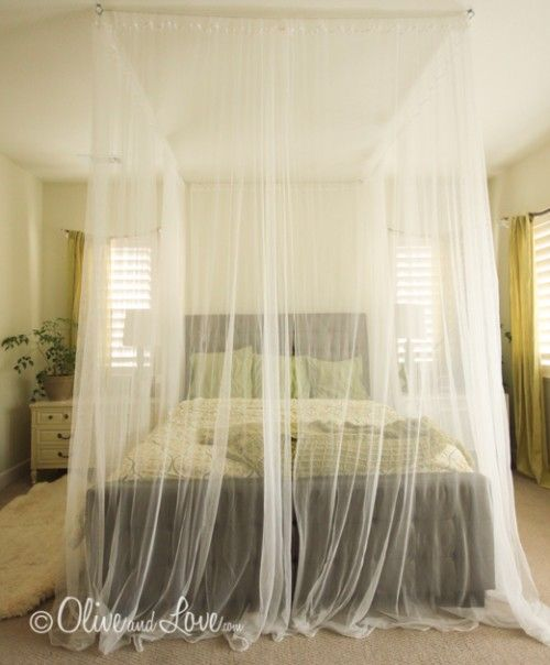 easy ceiling bed canopy