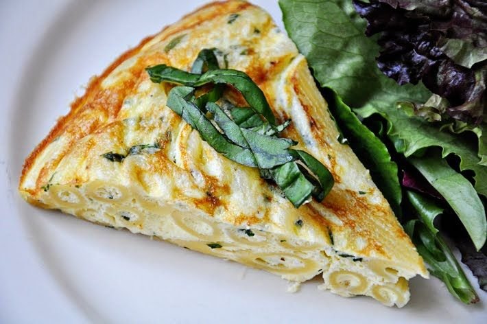 Basil-Ricotta Penne Frittata (haha that rhymes nicely! And what an interesting concept--it sounds delicious!)