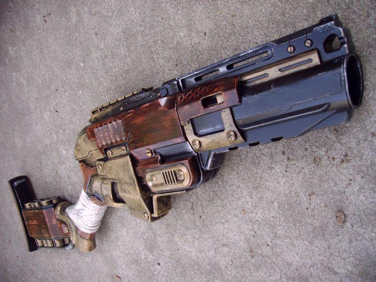 Steampunk Gun Nerf Sledgefire Victorian Gothic Cosplay Painted Prop