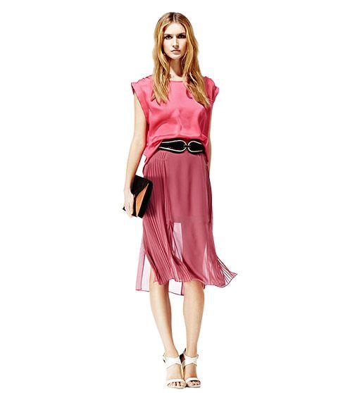 Stunning midi skirt in raspberry.. LOVE, LOVE, LOVE!