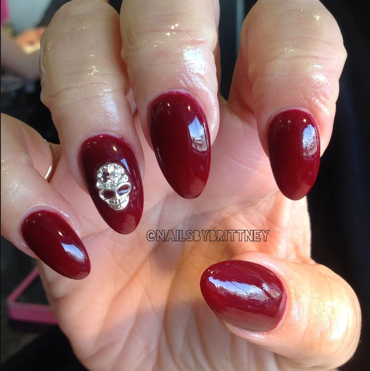 Red Almond Nails | www.imgkid.com - The Image Kid Has It!