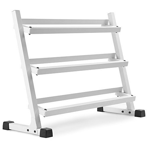 XMARK Heavy Duty Three Tier Dumbbell Rack With Angled Shelves for Easy Loading and Unloading of Dumbbells - 1000 lb. Weight Capacity http://adjustabledumbbell.info/product/xmark-heavy-duty-three-tier-dumbbell-rack-with-angled-shelves-for-easy-loading-and-unloading-of-dumbbells-1000-lb-weight-capacity/