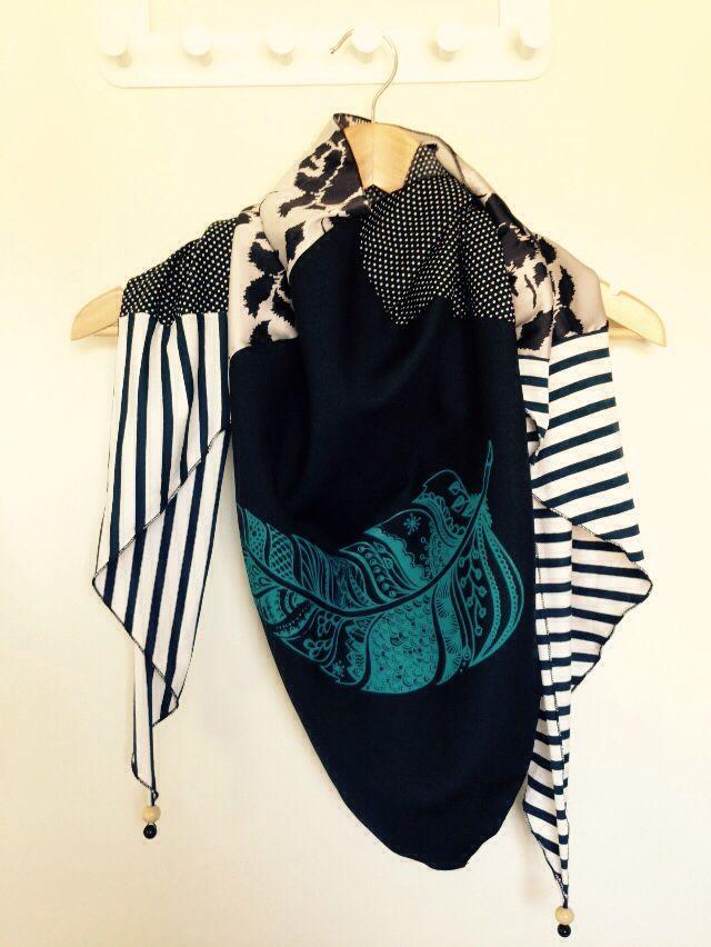Unika tørklæde med print