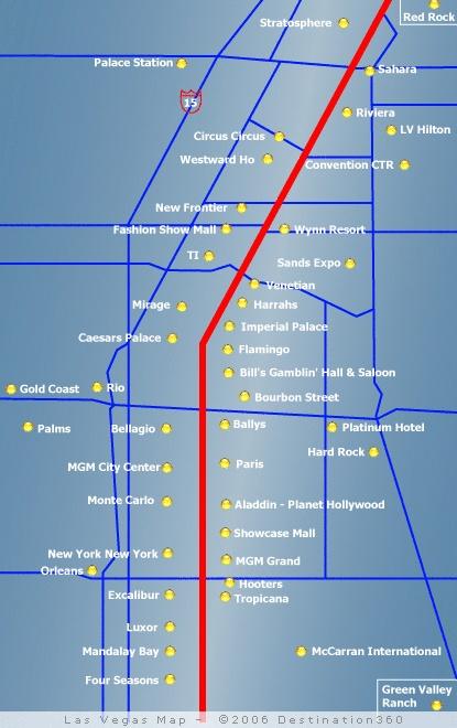 city las map nv strip vegas