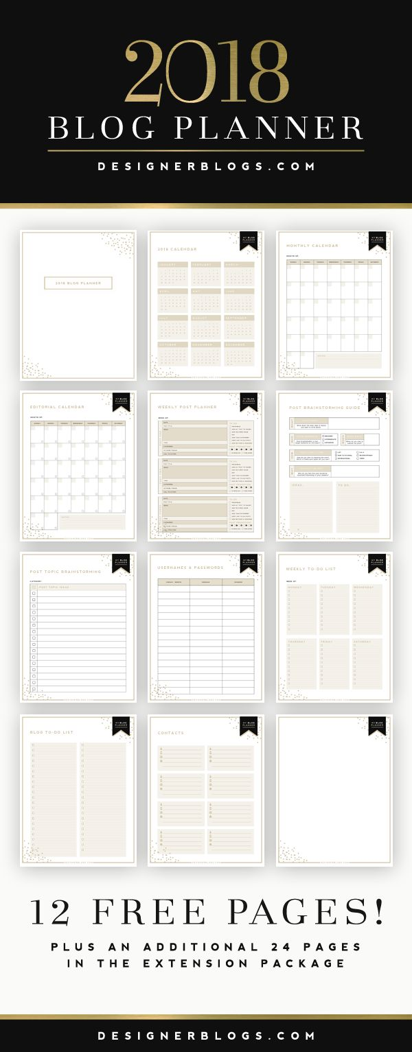 Ultimate Blog Planner | Free Printable | Designer Blogs