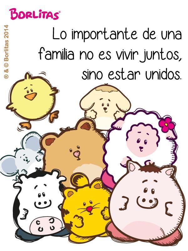 lo importante de una familia no es vivir juntos sino estar unidos