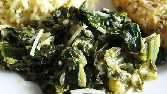 Sauteed swiss chard. Used chicken broth instead of white wine. Delicious, everyone ate it up, left wanting more!
