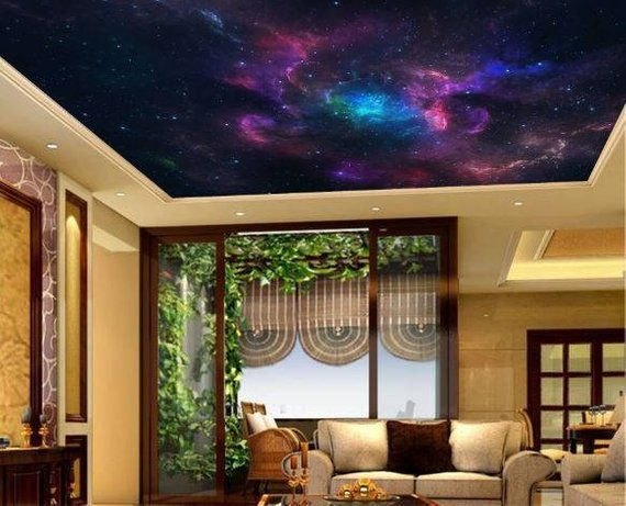 Check Out This Item In My Etsy Shop Https Www Etsy Com Uk Listing 528865788 Galaxy Wallpaper Ceiling Stars Ce Wallpaper Ceiling Galaxy Wallpaper Star Ceiling