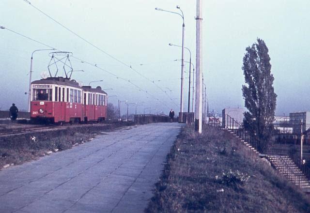 Wiadukt na Aleksandrowskiej 1968, tramwaj linii 14
