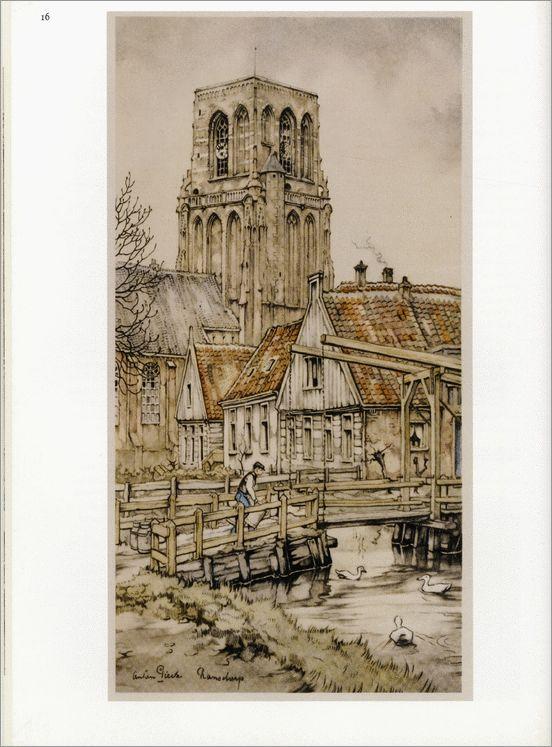 Anton Pieck. Rondje IJsselmeer.