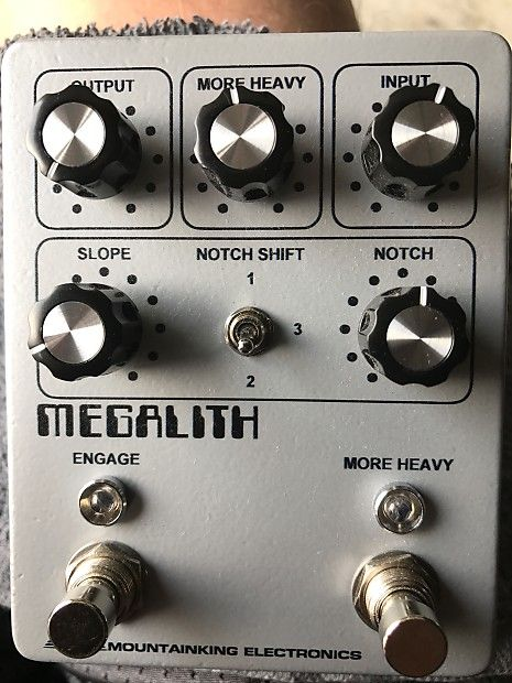 This is the only one available! Newest run from mountainking megalith and are not available for sale yet, was able to get this from the builder. New build design and internal controls for clipping. Most brutal fuzz ever designed juts check out reviews online total doom machine. Brand new in box  just tried out everything work 100% this will sell super fast so jump on it. Any questions ask thanks. Much better than the older version.