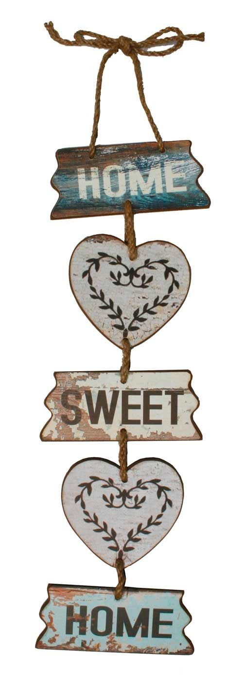 Home sweet home hanging sign. http://definestyle.net.au/shop/home-sweet-home-hanging-sign/