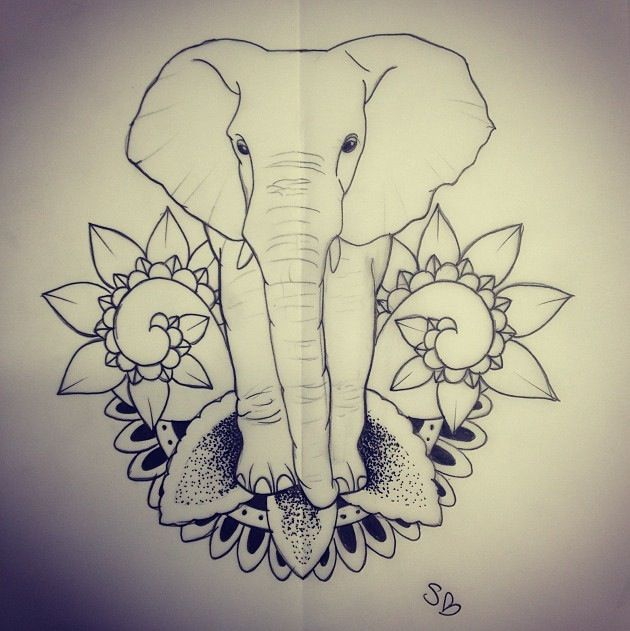 Elephant tattoo; my next tat will be an elephant, forrsure.!!!