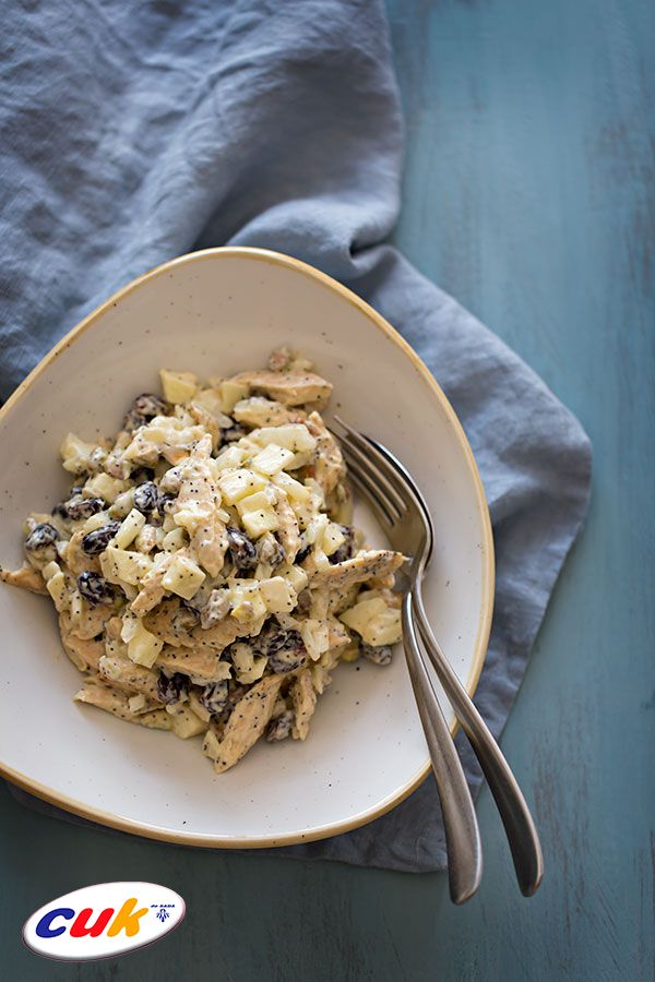 Receta de ensalada de Pollo CUK con cerezas secas y pistachos