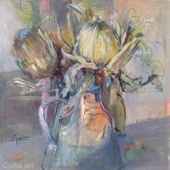 Feeling Floral by Julia Forman Oil ~ 750 x 750