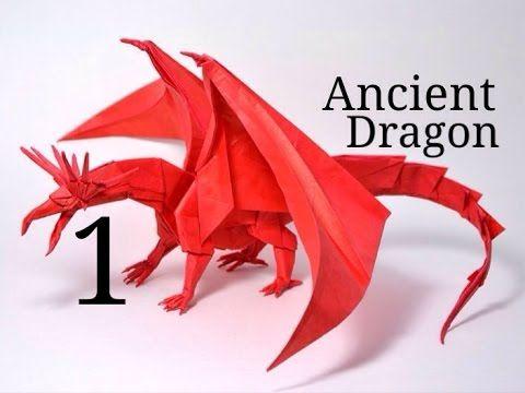 Origami Ancient Dragon tutorial - Satoshi Kamiya (part 1) - YouTube