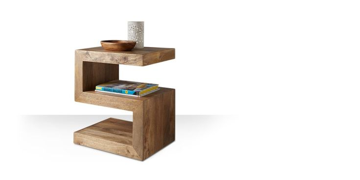 Swoon Editions Side table, Contemporary style in mango wood - £139