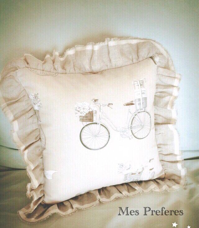 Paris style shabby cushion