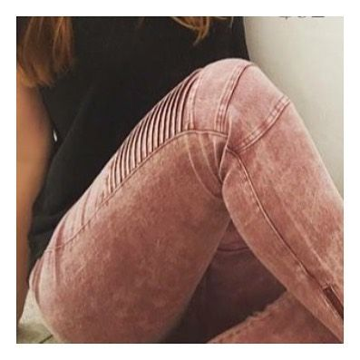 Our best selling Kara Moto jeans in yet another new color: brick. Get yours now at | bellabellaclothing.com