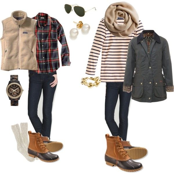 """How to Wear: Bean Boots"" by kksweens on Polyvore I get to wear my bean boots even more?!? Sounds good to me! I like this trend"