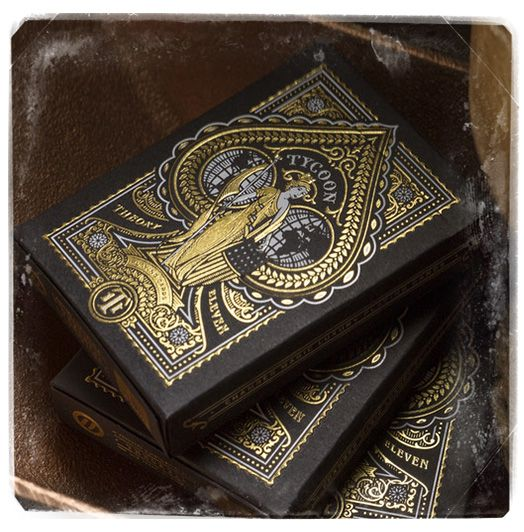 Playing cards : Tycoon Black Edition cards deck