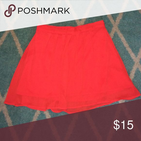 Orange Crepe Skirt No trades, swaps or off-posh transactions, no exceptions! Measurements can be provided upon request. Any item in my closet $10 and under can be bundled for free with any purchase of $10 or more, just ask when purchasing! All bundles save 30%! Please feel free to make an offer so the price is right! Happy poshing! Old Navy Skirts Mini