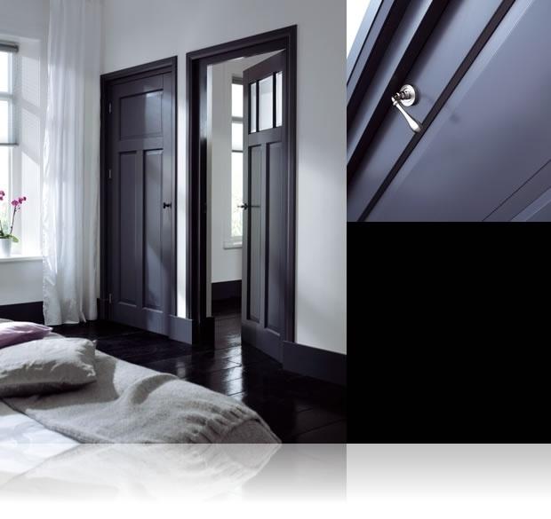 25 beste idee n over zwarte deuren op pinterest zwart interieur deuren deuren zwart - Corridor schilderen ...