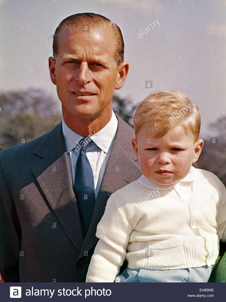 Prince Philip with his no. 2 son, Andrew.