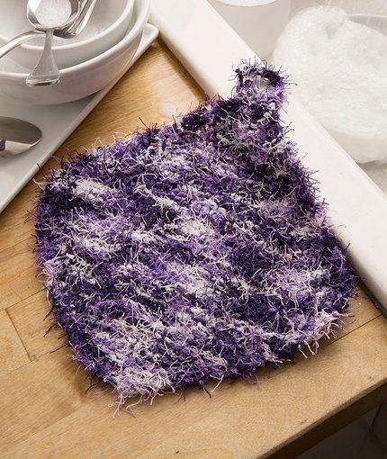 Corner-to-Corner Scrubby Free Knitting Pattern in Red Heart Scrubby Yarn