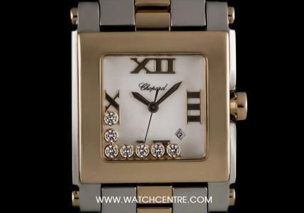 Chopard Stainless Steel & 18k Rose Gold Happy Sport Mid-Size 278498-8495