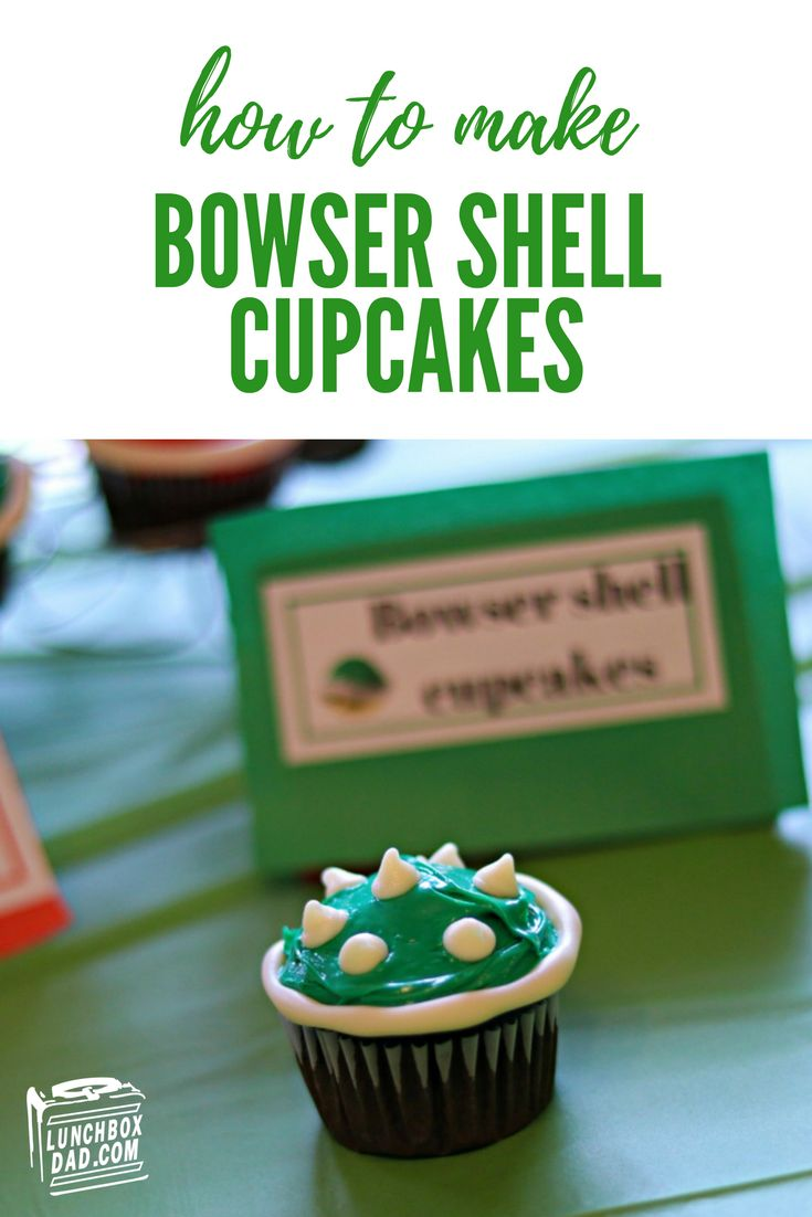 Super Mario Bowser Shell cupcakes for your next video game themed birthday party!
