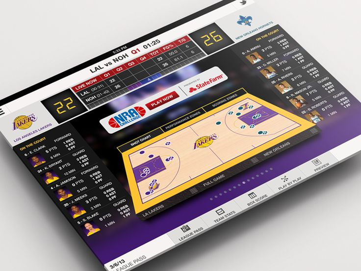 Live Basketball iPad App by Anke Mackenthun