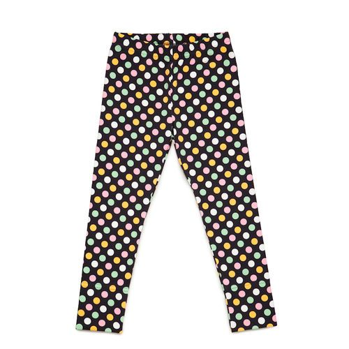 Pastel Polka Leggings, Graphite