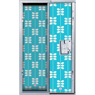 LockerLookz™+Magnetic+Locker+Wallpaper+Set:+Blue+Leaf