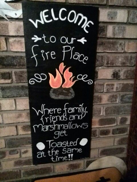 Amelia's fire place.    Family and friends