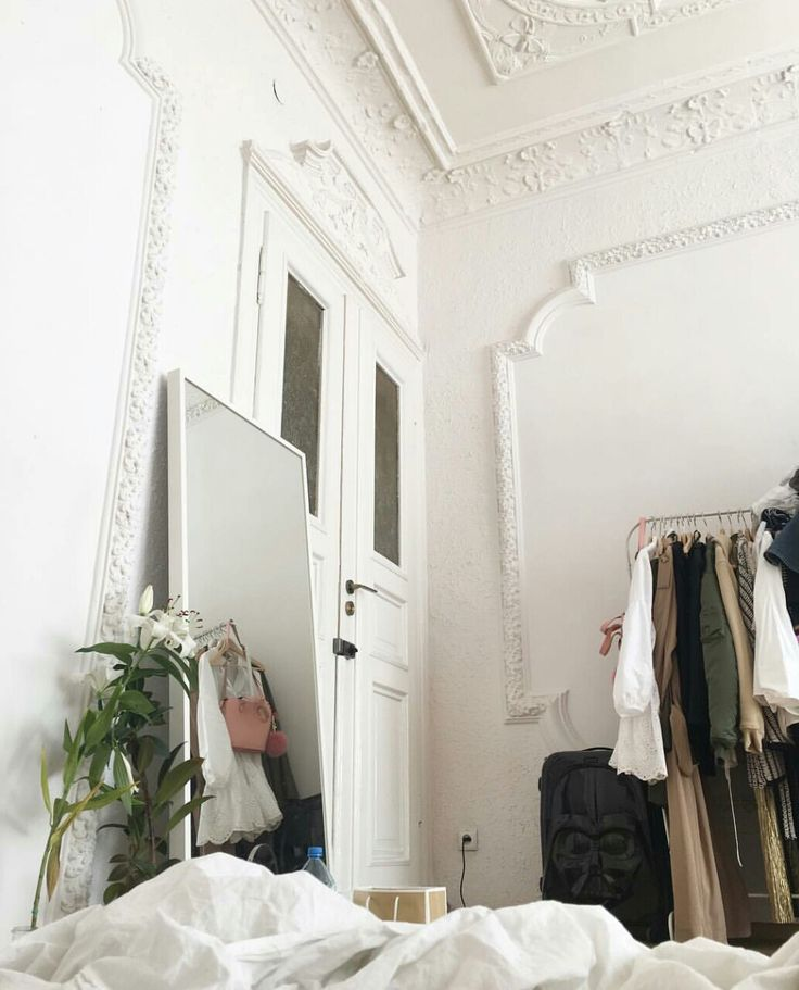 Beautiful old all white moldings